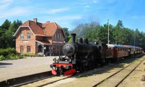 Säsongspremiär för ångtåget @ Brösarps station | Skåne län | Sverige