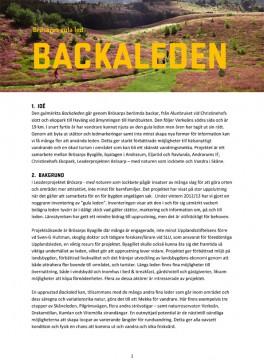 Ladda ner projektplanen för Leaderprojektet Backaleden här.