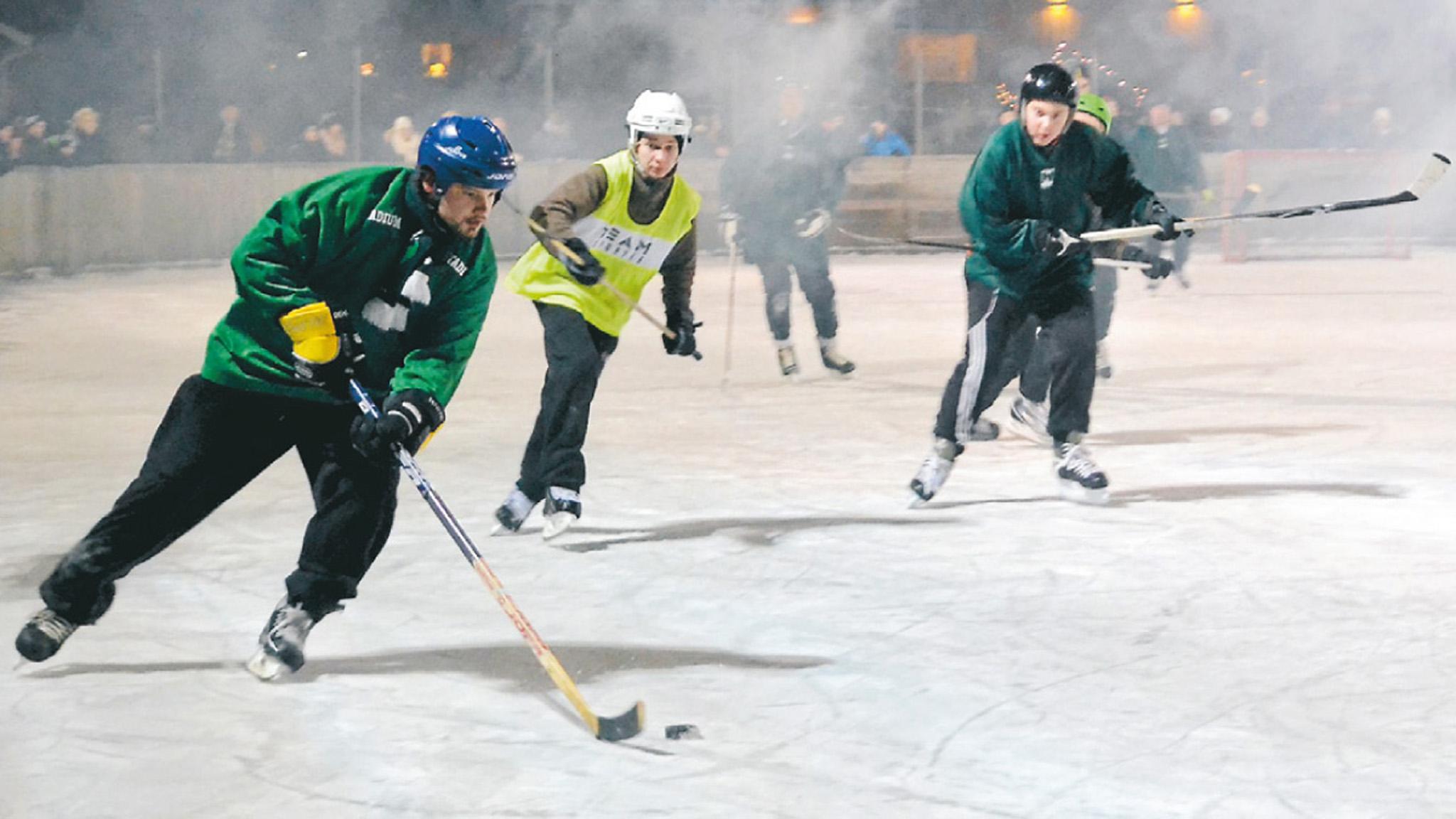 Ideella krafter blåste liv i den gamla traditionen med hockeyderbyn mellan grannbyarna Brösarp och Maglehem.