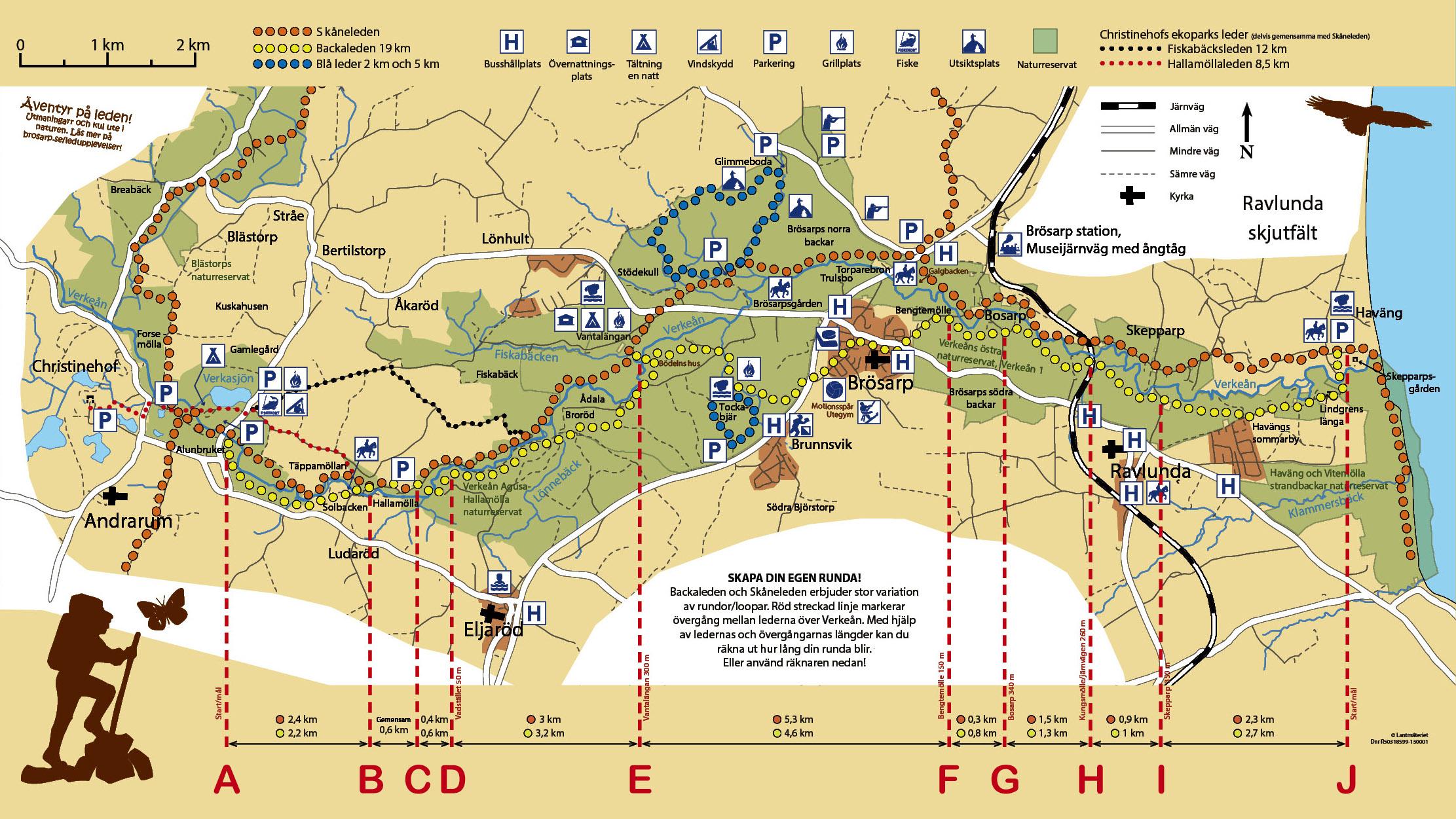 skåneleden karta Backaleden   vandra varierat på Österlen skåneleden karta