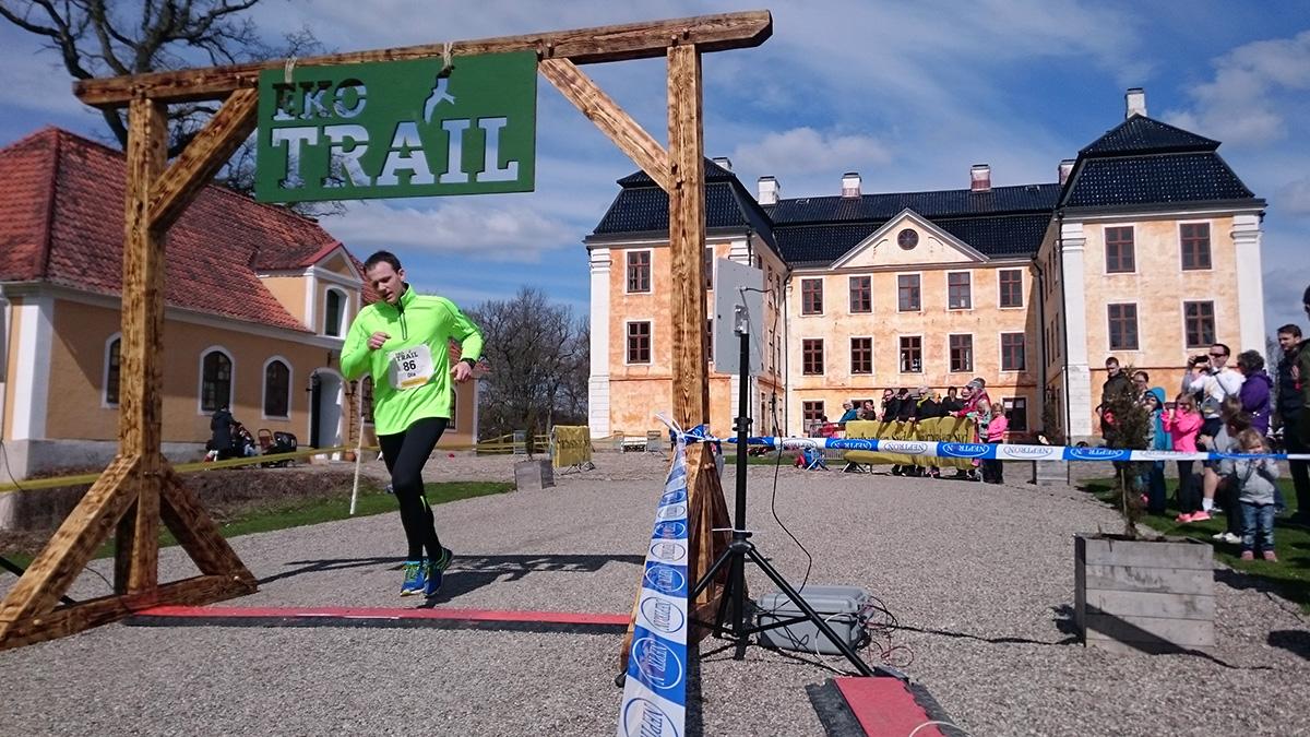 Ola Johansson blir tolfte man på 12 km med tiden 1.13.34 (tim/min/sek). Foto: Fabian Rimfors