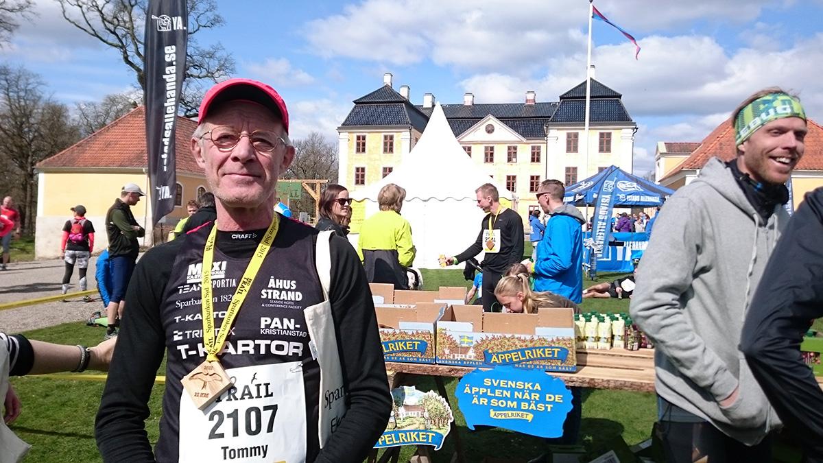Tommy Hautop, 62 år, från PAN Kristianstad, sprang 21 km.