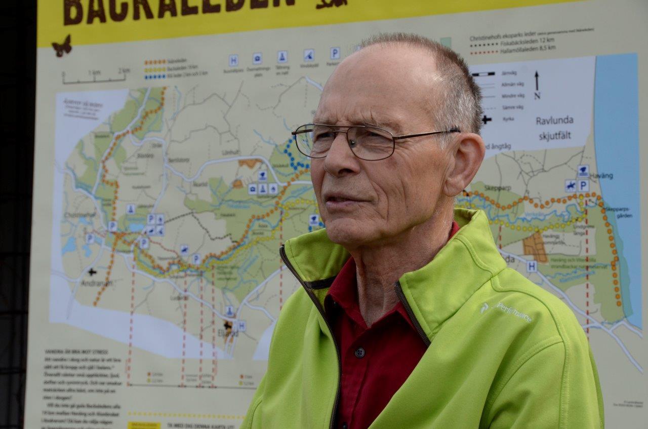 Brösarps Byagilles ordförande och projektledare för Leaderprojektet Backaleden. Foto: Hanseric Jonsgården