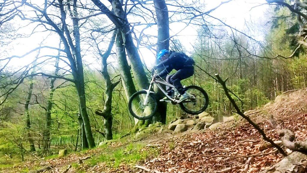 Mountainbike, MTB, i Brösarp, Österlen, Skåne.