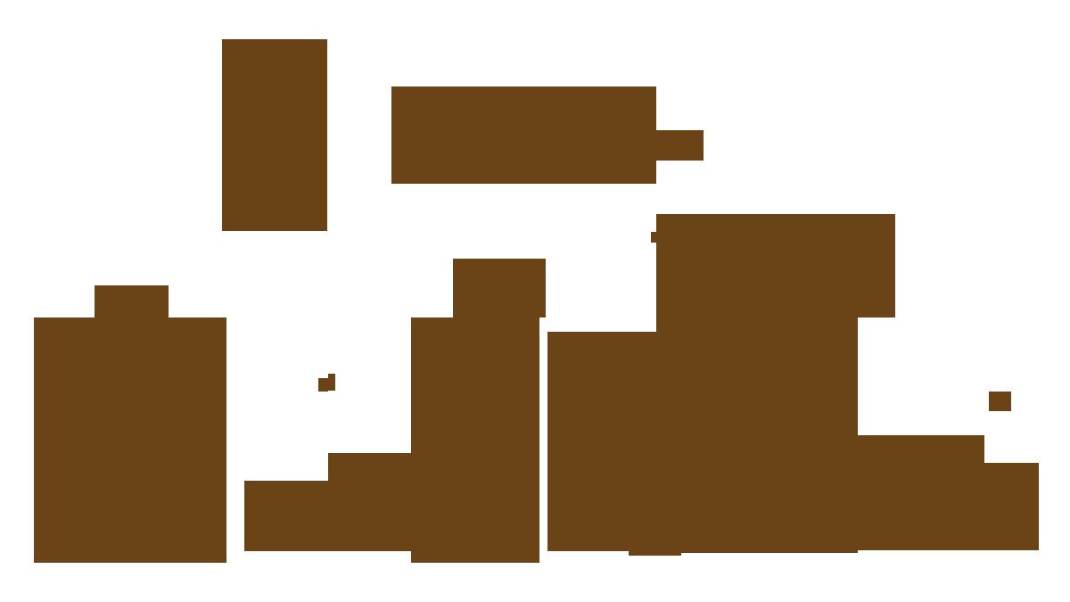 Vilda djur i Brösarps natur, i storlek i förhållande till varandra.
