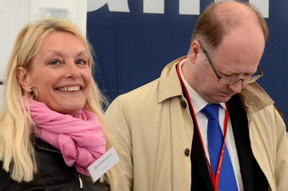 Livsmedelsakademins VD Lotta Törner och regionpolitikern Pontus Lindberg. Foto: Hanseric Jonsgården