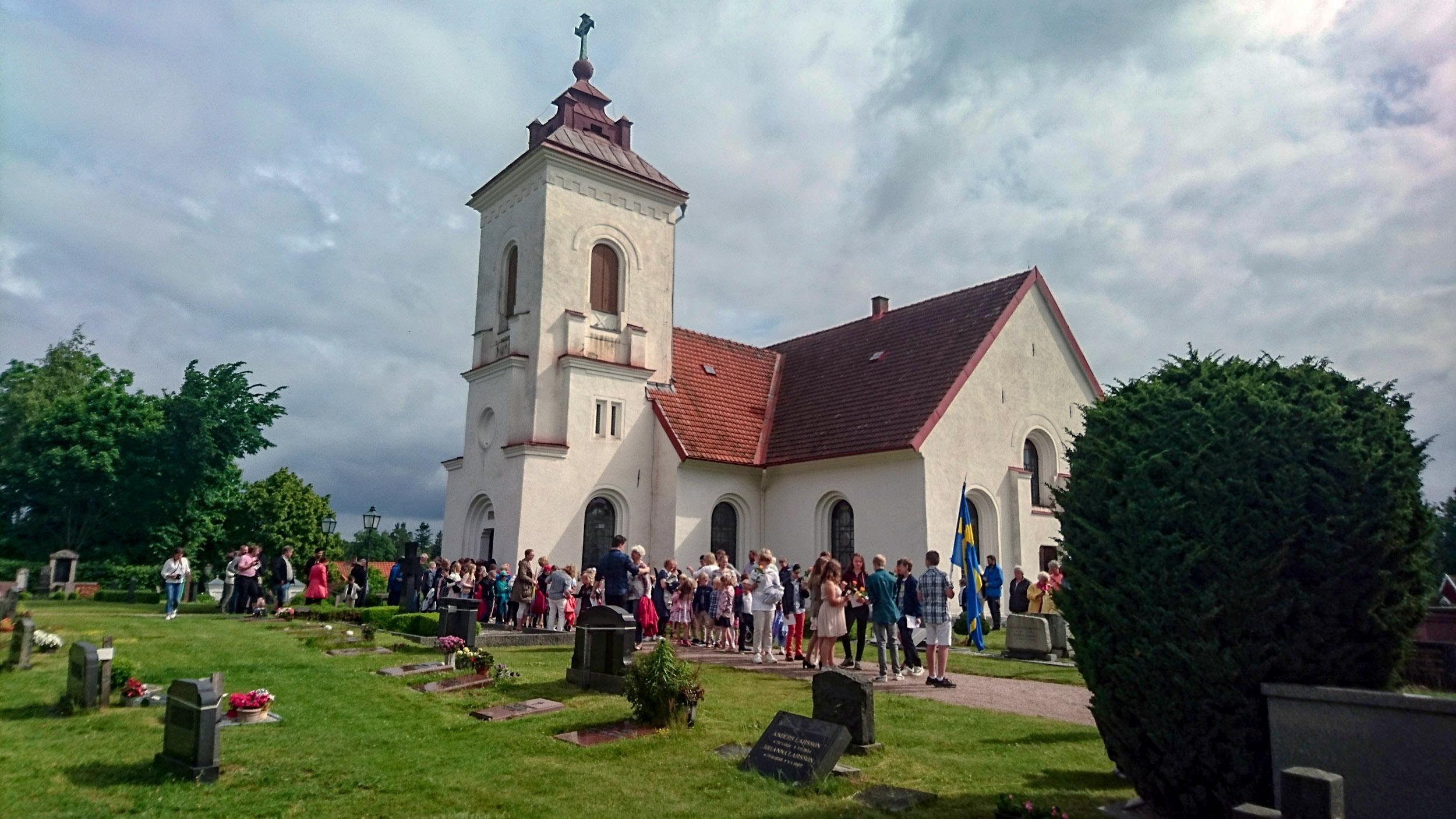 Den första delen av Brösarps kyrka byggdes på 1100-talet.
