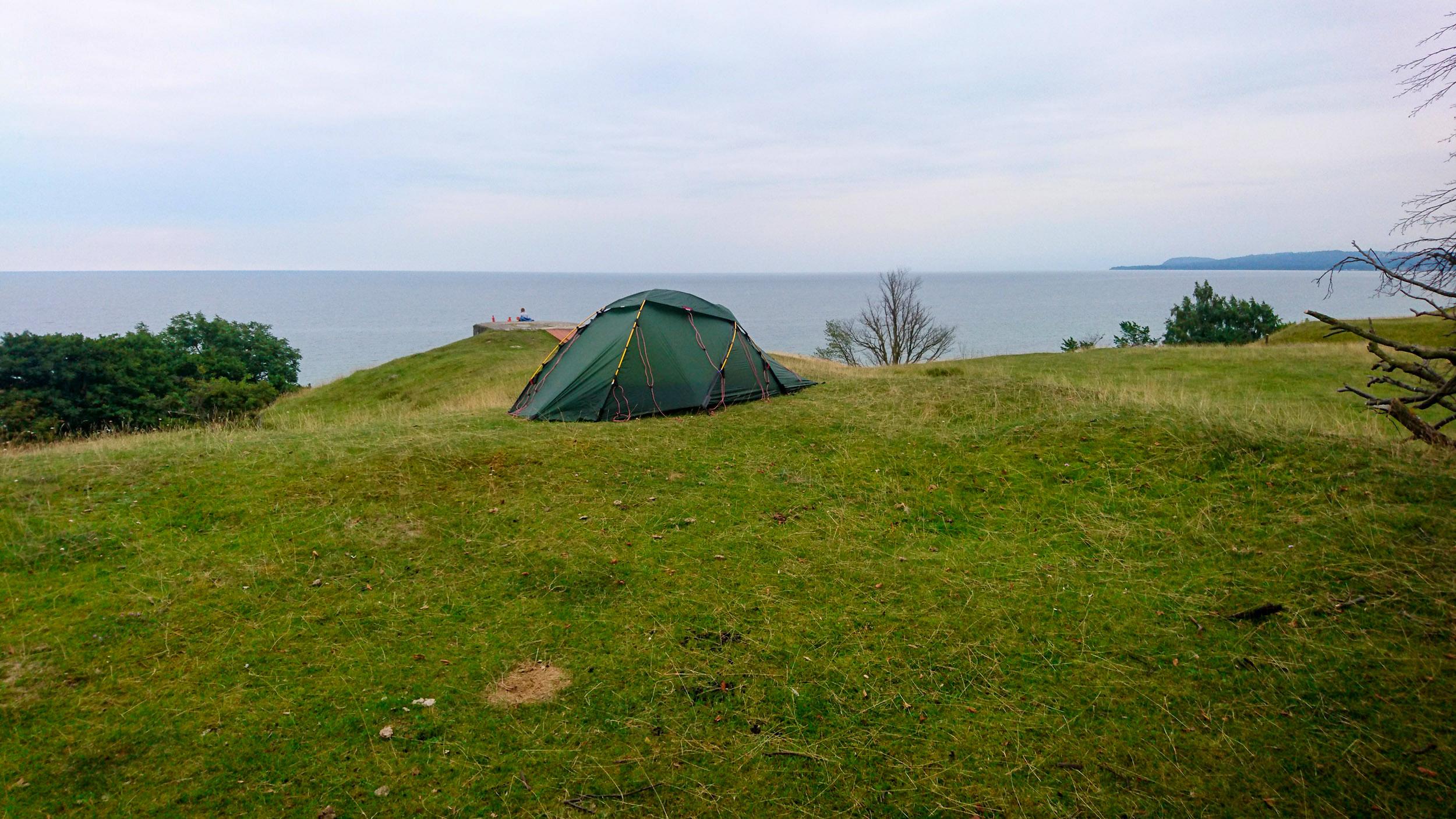 Utsikt över Hanöbukten och ett stilla hav.